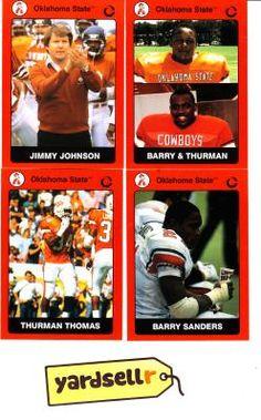 College & NFL Hall Of Fame Ulumni Jimmy Johnson Barry Sanders Thurman Thomas
