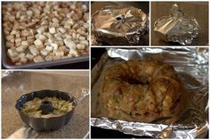 """A great new way to cook your Thanksgiving stuffing this year. Quickly """"baked"""" in the pressure cooker and then crisped up in the oven before serving."""