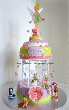 """Fee clochette cake Cree par : """" Les gateaux d Ingrid """" ( facebook"""