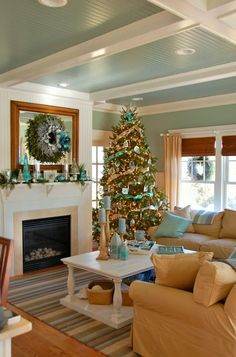 Everything Coastal....: Fifteen of Our Favorite Coastal Christmas Trees