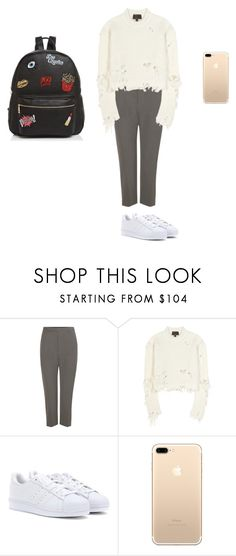 """""""uni outfits"""" by talamatassi on Polyvore featuring Rick Owens, adidas Originals, adidas and Ollie & B"""