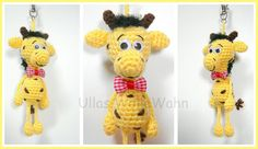 Taschenbaumler Giraffe Häkelanleitung von Ullas WolleWahn auf DaWanda.com