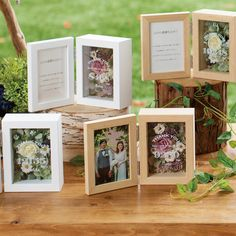 trendy wood wedding gifts diy how to make Flower Box Gift, Flower Frame, Flower Boxes, Diy Flowers, Diy Wedding, Wedding Gifts, Pop Up Frame, Plant Wedding Favors, Dried Flower Bouquet