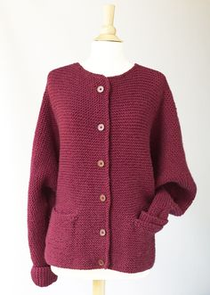 Knit Oh-So-Simple Cardigan by Lion Brand-knitting