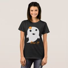 Cute Halloween Ghost T-Shirt - diy cyo customize personalize design