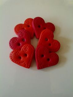 Botões de Biscuit- PAP e Inspirações