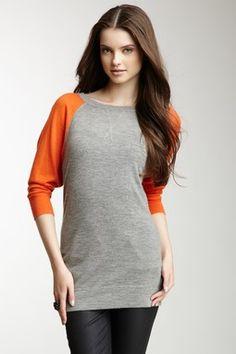 Autumn Cashmere Colorblock Cashmere Raglan Sweater