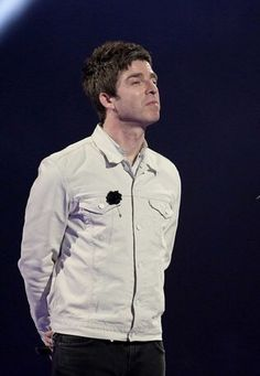 Levi's x Oi Pollio Beige Slim Fit Trucker Jacket (w/Lanvin Pin Badge) Oasis Music, Noel Gallagher, Pin Badges, Lanvin, Boyfriend, Singer, Slim, Beige, Shirt Dress