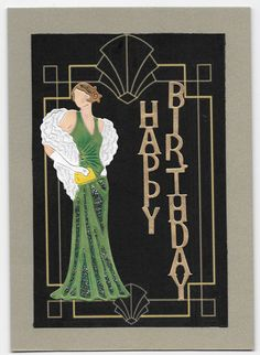 70 Ideas Birthday Card For Women Elegant Happy Birthday Art, Masculine Birthday Cards, Birthday Cards For Women, Handmade Birthday Cards, Female Birthday Cards, Card Birthday, Art Deco Cards, Art Cards, Tattered Lace Cards