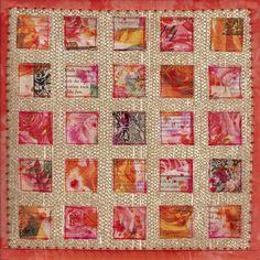Frieda Oxenham: 'Rose Windows' Journal Quilts