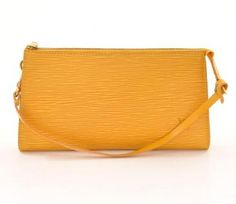 Louis Vuitton Pochette Epi Yellow New addition to my compulsive collection.