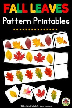 Practice patterning skills with Fall Leaves Pattern Activity for Preschool. This is a great addition to a fall or leaf unit and can be used as a small group activity or at a math center. Fall Preschool Activities, Preschool Lessons, Preschool Theme Fall, September Activities, Group Activities, Autumn Theme, Autumn Leaves, Fall Quotes, Fall Photography