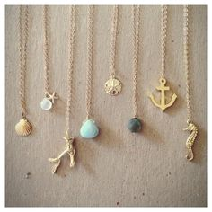 Edisto Collection Necklaces. Gold Filled door laurenamosdesigns