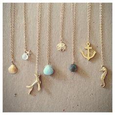 Edisto Collection Necklaces. Gold Filled door laurenamosdesigns