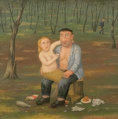 Русский примитивист Владимир Любаров /Vladimir Lubarov Russian Artist