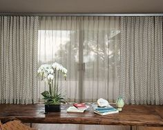 Living Room featuring Single Pleat Drapery in Chainlink/ Graphite 16648 with Metro Track Flat Aluminum Rod Set in Antique Silver from S&N
