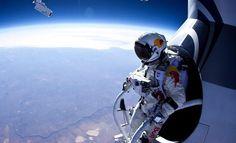 Skydiver, Felix Baumgartner, From 13 Miles Up Proves Red Bull May Hinder Human Survival Instinct