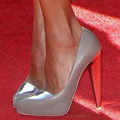 6e21f318436c Kerry Washington in Gio Diev Nikko II metallic heel and cap toe leather  pumps Metallic Heels