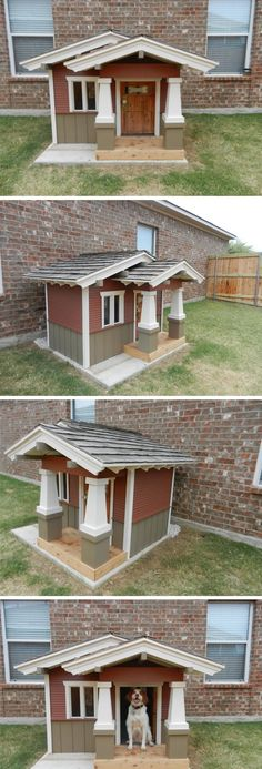 This doghouse would be a cool way to hide a doggy door...