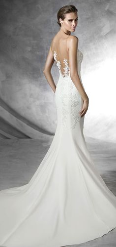 Pronovias 2016 Wedding Dress Custom Made Bridal Gown & Design Your Own Dress! Click now www.yalandesign.com