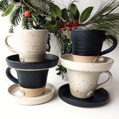 Stoneware, handmade & unique Espresso Cups, Stoneware, Coffee Maker, Ceramics, Handmade Gifts, Tableware, Unique, Etsy, Coffee Maker Machine