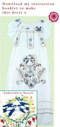 DIY Mexican Dress, Pattern Details @mexicandress.com