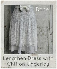 DIY Style Tutorials by Kristina J. - Lengthen with a Chiffon Underlay
