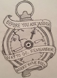 Compass tattoo all time low