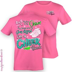 Girlie Southern Cheer Princess T-Shirt on Safety Pink on Etsy, $19.99   http://www.halftee.com
