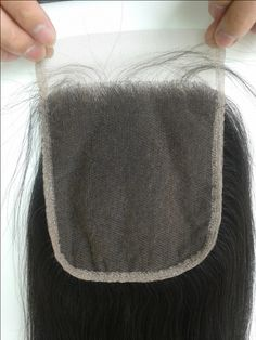 DHL Free Shipping 5x5 Brazilian Hair  Top Lace Front Closure 100% Unprocessed Human Hair Closure Slightly  Bleached Knots