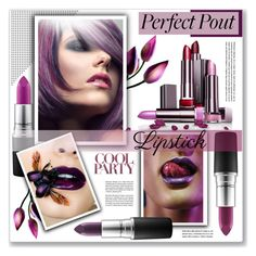 """the perfect pout"" by nanawidia ❤ liked on Polyvore featuring beauty and MAC Cosmetics"