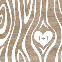 Love this type of cartoonish faux bois pattern with the heart in there. Would love it with just a 'g' for Grace and a solid brown instead of the woodgrain.