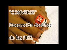 Decoración de Uñas de los PIES Inspiración CONVERSE/Easy Converse Inspired Nail…