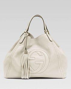 ShopStyle: Gucci Soho Leather Shoulder Bag, White