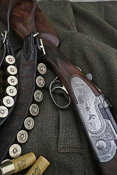 Beautiful engraved shotgun