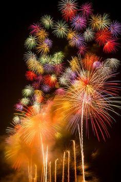 Akagawa hanabi in Tsuruoka, one of the biggest fireworks festival in Japan.