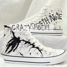 Anime Death Note Custom Hand Painted Hi-Top Canvas Shoes Unisex. Custom  ShoesCustom ConverseConverse HighCanvas SneakersOn ... 58a691a0bb2e