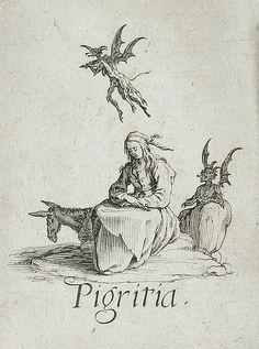 c.1621,The Seven Deadly Sins:Sloth. Jacques Callot(France,Nancy,1592-1635). Los Angeles County Museum of Art.7 смертных грехов.Леность.