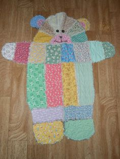 baby teddy bear quilt by ThreeGirlsandGrandma on Etsy, $50.00