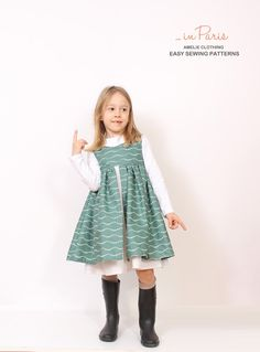 Nohara DRESS sewing pattern for girls - children pdf sewing pattern - INSTANT… Kids Clothes Patterns, Childrens Sewing Patterns, Easy Sewing Patterns, Sewing For Kids, Baby Sewing, Clothing Patterns, Pdf Patterns, Kids Clothing, Clothing Ideas