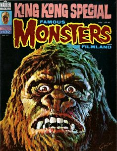 Famous Monsters of Filmland - issue #132 - 1977 - King Kong (cover art by Basil Gogos)