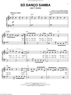 Jobim - Jazz 'N' Samba sheet music (easy) for piano solo [PDF] Virtual Sheet Music, Jazz Sheet Music, Easy Piano Sheet Music, Digital Sheet Music, Sergio Mendes, Hoagy Carmichael, Complete Music, Soloing, Samba