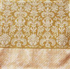 Golden napkins scrappbook accesories paper supplies by Napkintime