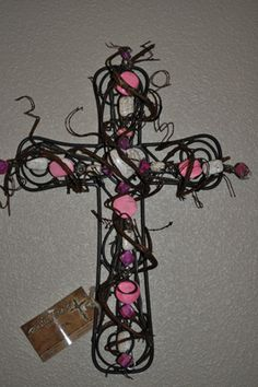 wire and bead cross