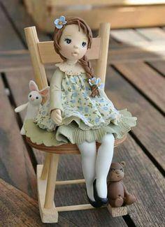 Pasta Flexible, Cold Porcelain, Clay Crafts, Clay Art, 3, Dolls, Disney Princess, Disney Characters, Rose