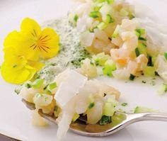 Recette : tartare de la mer au lait de coco