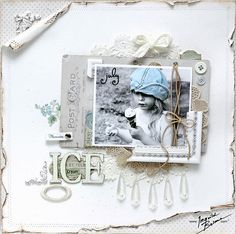Want to make a card using the torn rolled edges.  Must do!