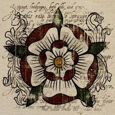 Tudor Rose Tote Bag image. I printed it out and framed it for our gallery wall. :)