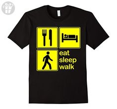 Men's Eat Sleep Walk Repeat Walking Club Team Fan Funny T-Shirt Medium Black - Eat sleep repeat t shirts (*Amazon Partner-Link)