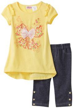 Young Hearts Little Girls' 2 Piece Bow Capri Pant Set, Lemon Juice, 2T Young Hearts http://www.amazon.com/dp/B005X7SVDS/ref=cm_sw_r_pi_dp_vWebub1SDRE44